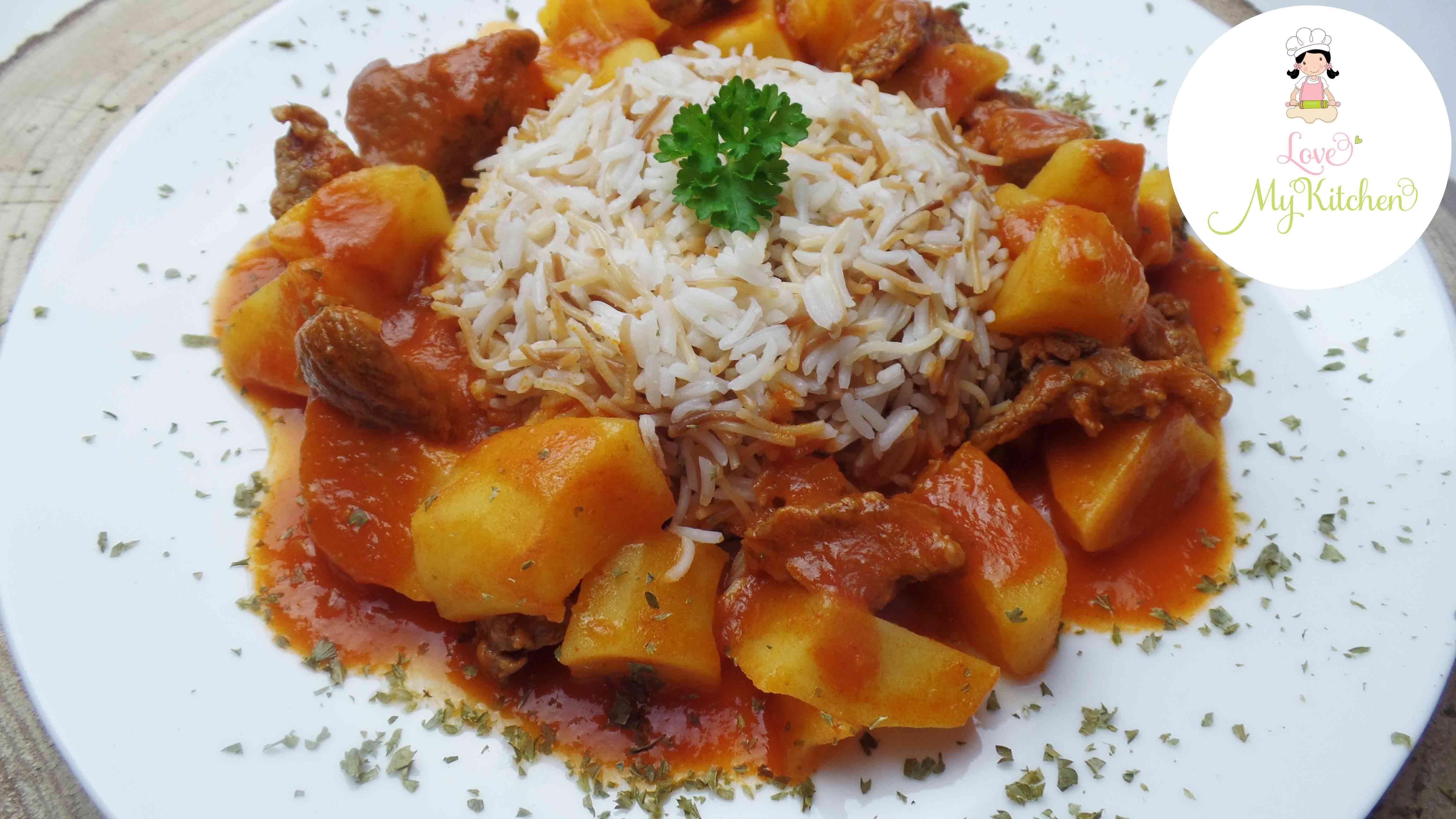 yakhnet batata libanesischer kartoffel gulasch eintopf love my kitchen leckere rezepte aus. Black Bedroom Furniture Sets. Home Design Ideas